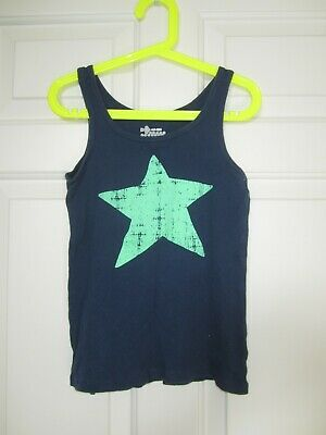 c7a698d05bc62 OLD NAVY KIDS girls navy blue star ribbed tank top muscle shirt S 6 ...