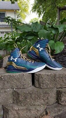 new styles 63a0e 6c51b Rare Under Armour Clutchfit Drive Purple Gold Green Size 9.5