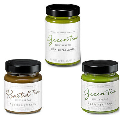 Osulloc Green Tea Milk Spread Roasted Tea Hojicha Tea Jam / Korean spread