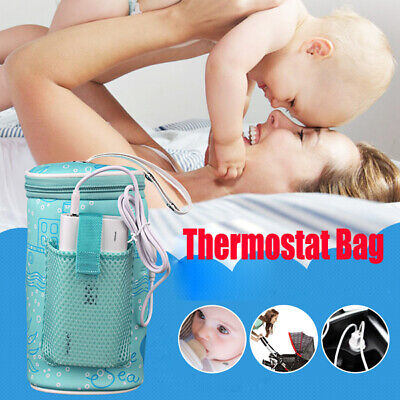 Portable Baby USB Heating Intelligent Warm Milk Tool  Bottle Thermostat Bag