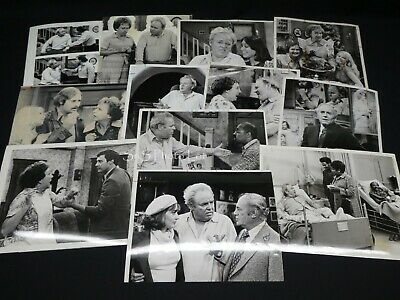 """16 x TV Press Kit Photos ~ 8x10 """"All in the Family"""" Carroll O'Connor Rob Reiner+"""