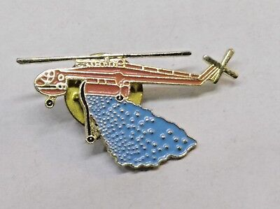 Water Bomber Helicopter Pin /  Badge
