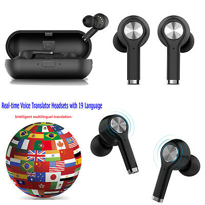 Smart Real-time Voice Translator 19 Language Wireless Bluetooth Headsets in-Ear