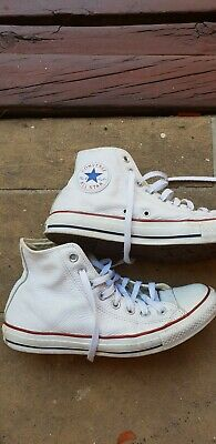 Converse high-top - white leather - women size 9 mens 7