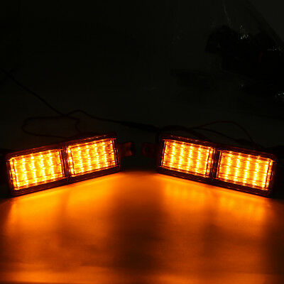 Pair Universal Truck Trailer Bull Bar Front LED Indicator Park Light Lamp