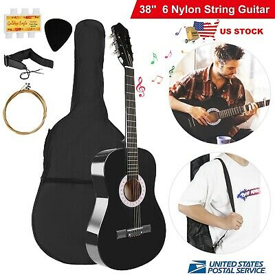 "Beginner 39.3"" Acoustic Guitar with Case, Strap, Tuner and Pick&Guitar Hanger US"