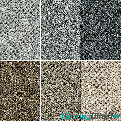 Flecked Textured Thick Loop Pile Carpet Hardwearing Felt Backed Hall Lounge Roll