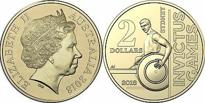 🔥COLLECTABLE 2018 AUSTRALIA $2 DOLLAR SYDNEY INVICTUS GAMES COIN UNC in CAPSULE