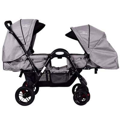 Costway Foldable Face To Face Twin Baby Stroller Double Kids Infant Reclining Se