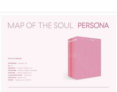 Bts Map Of The Soul Persona, 4Version Set, Sealed, Trackng Num