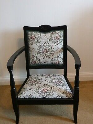 A Victorian upholstered Ladies' nursing chair or child's armchair