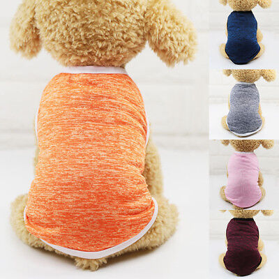 BU_ Solid Color Summer Puppy Dog Vest Breathable Top Tee Pet Clothes Gift Natura
