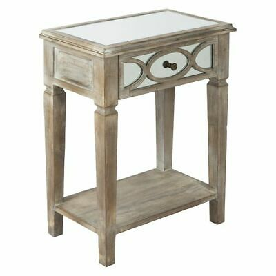 NEW Casa Uno Belfair Mirror Side Table