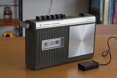 National Panasonic cassette Player Recorder, Made in Japan, Rare Olive Green