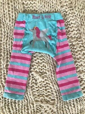 Blade And Rose Unicorn Leggings, Tights, Girls, Pink Turquoise, 6-12 Months