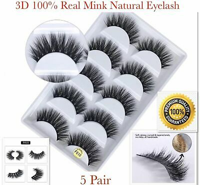 False Eyelashes Mink 3D 5 Pair Wispy Cross Long Thick Soft Fake Eye Lashes NEW💙