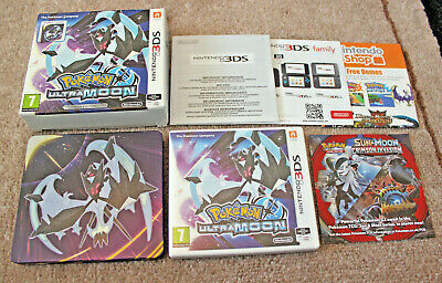 *no Game* Limited Edition Pokemon Ultra Moon Steel Book + Case Nintendo 3Ds 2Ds