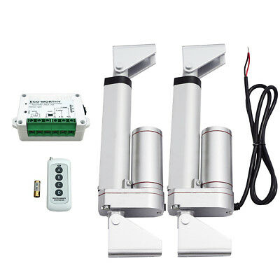 "2 Set 4"" 12V Linear Actuator 1500N + Motor Controller +Bracket for Auto Lift"