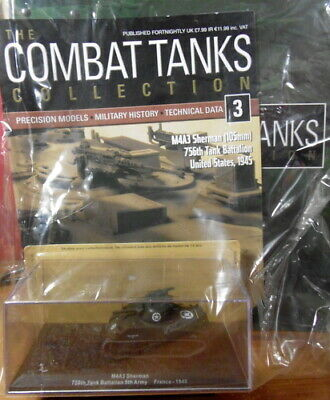 WW2 US Army M4A3E8 Sherman  Combat Tank Collection 1:72nd Scale Die-cast Model