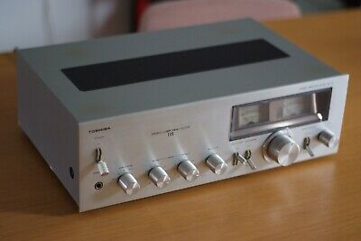 Vintage Retro Toshiba Amplifier 115, Power Meter! Made in Japan, Rare, Good Cond