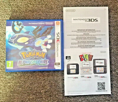 *no Game* Pokemon Alpha Sapphire Version Case & Leaflets Only Nintendo 3Ds 2Ds.