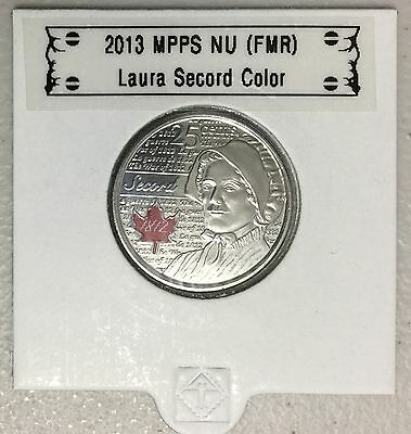 CANADA 2013 New 25 cents Laura Secord COLOR (BU From roll)