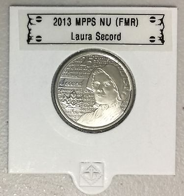 CANADA 2013 New 25 cents Laura Secord (BU directly from mint roll)