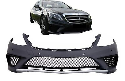 Front Bumper for Mercedes Benz W222 S-Class 13+ PDC Grilles S63 AMG Design
