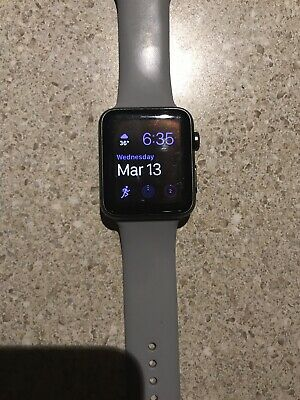 Apple Watch Original 42mm Aluminum Case Smartwatch - Grey - Read Description