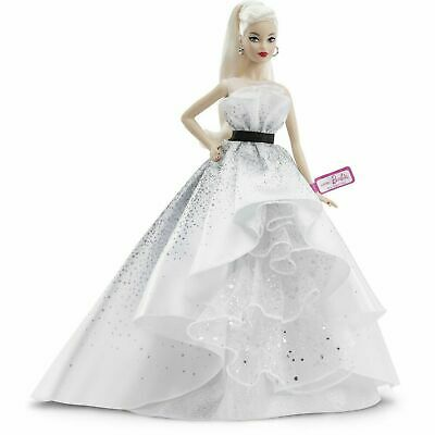 New 2019! Barbie 60th Anniversary Celebration Doll Blonde IN STOCK