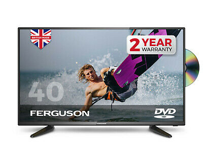 "FERGUSON 40"" INCH LED TV & DVD FREEVIEW HD 1080P FULL HD 3 x HDMI USB MADE IN UK"