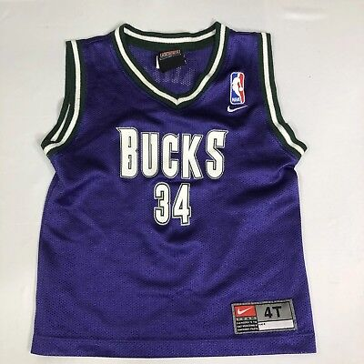 sale retailer 13366 00832 VTG MILWAUKEE BUCKS Jersey Ray Allen #34 Nike NBA 90s Toddler Boys 4T Baby  Kids