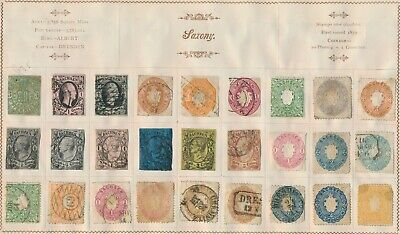 Germany States 1852-1868 Prussia, Saxony, Baden, 3 Unpicked Pages, Several Gems