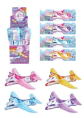 Unicorn Flying Plane Gliders Ideal Party Bag Fillers Children Toys Game Prizes