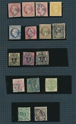 Hannover Stamps 1853-1864 German States, High Value Page From Unpicked Coltn