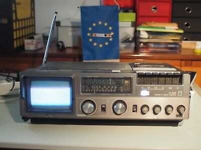 jvc Cx 500eu  Vintage TV Radio Cassette Recorder Machine