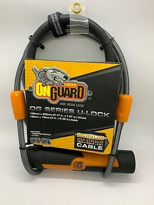 On Guard OG Series U-Lock /& Bonus High Strength High Security Cable NEW 4616