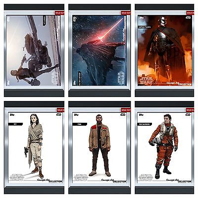 Topps Star Wars Card Trader (One Of A Kind) Silver Concept-Complete Set 17 Cards