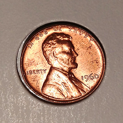 1960 1C Large Date RD Lincoln Cent Free S/H