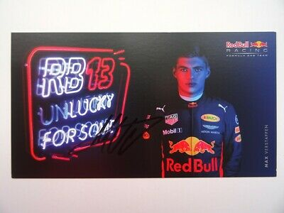 Max Verstappen 2017 Red Bull Racing Formula 1 signed card F1 autograph