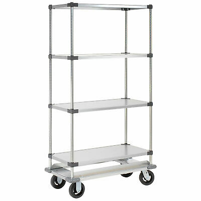 2ff6d824018 36x24x70 Galvanized Shelf Truck with Dolly Base
