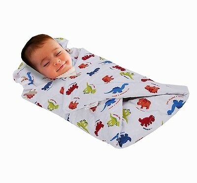 Love2Sleep SOFT TOUCH COTTON RICH BABY SWADDLE BLANKET WITH PADDED PILLOW 0 - 4
