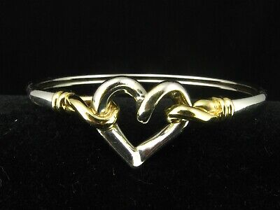 3d5d8889256fa4 Alwand Vahan Sterling Silver 925 and 585 14K Gold Heart Love Hook Cuff