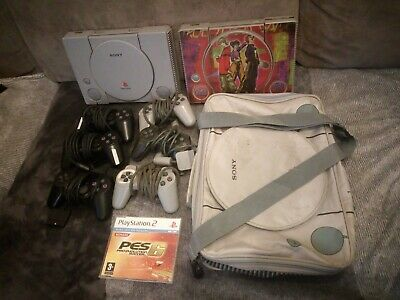 Lot consoles Sony Playstation 1 Ps1 Manette PS2 sacoche