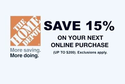 ➡️ HOME DEPOT—15% OFF Entire In-Store Purchase—SENT FAST! Exp. 2/24/20
