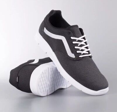 f2d47aa0b2 VANS WOMENS ISO 1.5 Mesh Black White Running Athletic Shoes Size 8 ...
