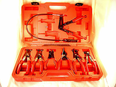 Hose Spring Clamp Pliers Set, 7 Pieces & Case, Coolant Hose Clamp NEW UK STOCK