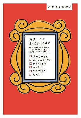 Friends TV Show Happy Birthday Greeting Card With Themed Envelope