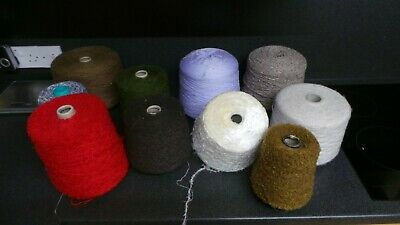 knitting wool for machine or handknitting bundle various colours 10kg yarn lot1