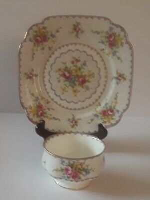 Lot of 3 Royal Albert PETIT POINT BREAD & BUTTER PLATE and SUGAR BOWL- England